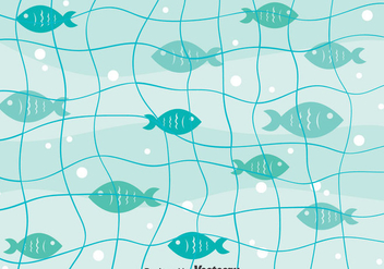 Fish Net Background Vector - vector #406185 gratis