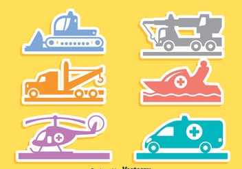 Emergency Transport Icons Vector - бесплатный vector #406195