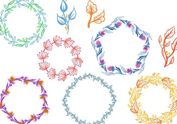 Free Wreaths Vectors - Kostenloses vector #406325