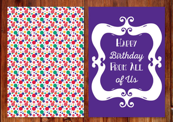 Cute Polka Dot Birthday Card - vector gratuit #406685