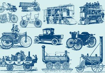 Vintage Motor Vehicles - vector gratuit #406745