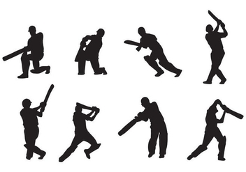 Cricket Player Vectors - Free vector #406775