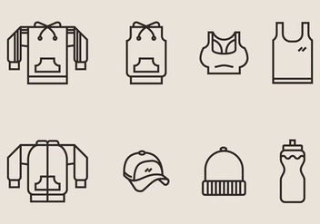 Tracksuit and Exercise Clothes Icon - Kostenloses vector #406805