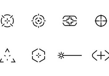 Laser Tag Icons - Free vector #406815