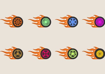 Burnout Wheels Icon - Free vector #406855