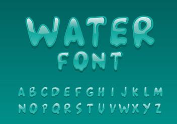 Water Font Vector - Free vector #406975