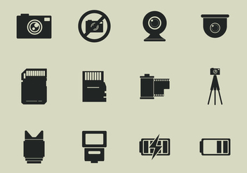 Camara Tools Icon Set - vector gratuit #407015