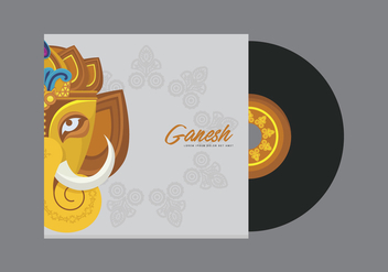 Ganesh Template Illustration - vector gratuit #407035