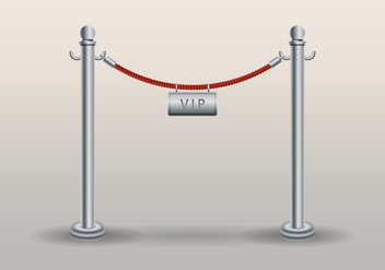 Velvet Rope With VIP Text Template - vector gratuit #407065