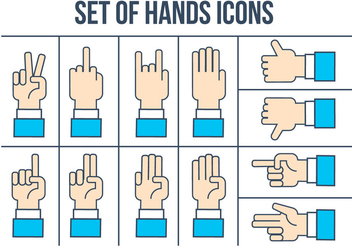 Free Hands Icons Vector Set - Kostenloses vector #407165