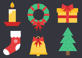 Free Christmas Elements Vector - vector #407275 gratis