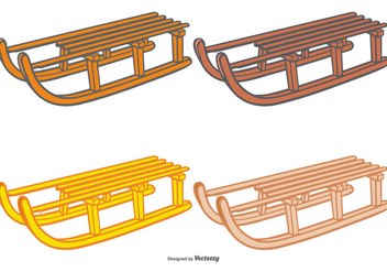 Toboggan Vector Set - бесплатный vector #407315