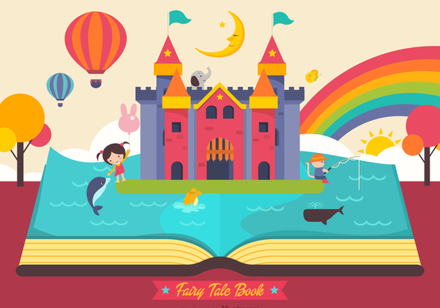 Free Fairy Tale Open Book Vector - Free vector #407385