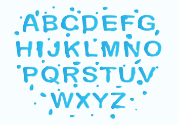 Free Water Font Vector - Free vector #407575