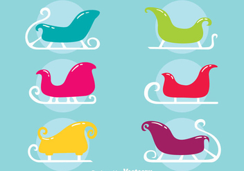 Colorful Toboggan Collection Vector - vector #407595 gratis