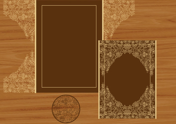 Wedding Invitation Or Greeting Card With Flower Laser Cut - vector #407695 gratis
