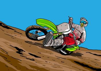 Dirt Bikes Accelerating In Dirt Track - Kostenloses vector #407715