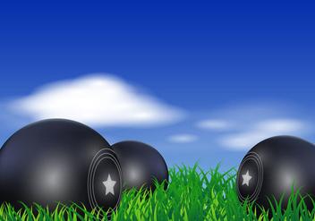 Lawn Bowls Vector - Free vector #407725