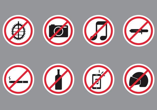 Forbidden Public Sign - vector #407815 gratis