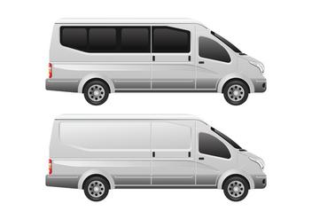 Minibus Vector Template - Kostenloses vector #407865