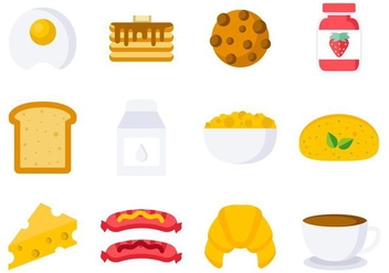 Free Breakfast Icons Vector - vector gratuit #407885
