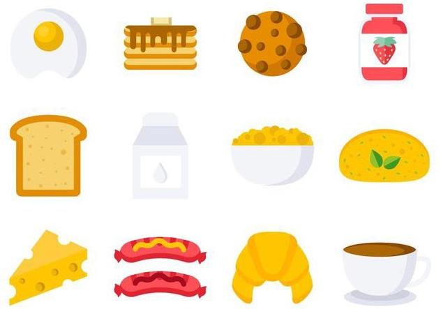 Free Breakfast Icons Vector - vector #407885 gratis