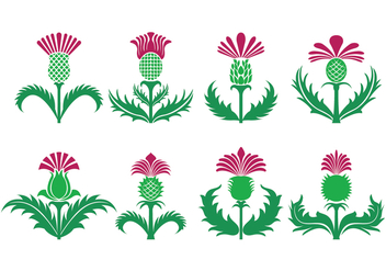 Thistle Vector Icons - vector #407935 gratis