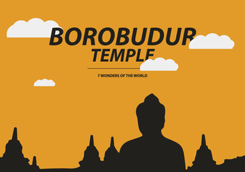 Free Borobudur Temple Vector - Free vector #408135