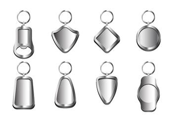 Key Chains Metal Vector - Kostenloses vector #408155