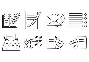 Free Writing and Poetry Icon Vector - vector #408185 gratis