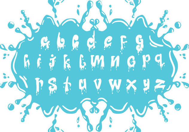 Set Of Water Alphabet Lowercase - Free vector #408215