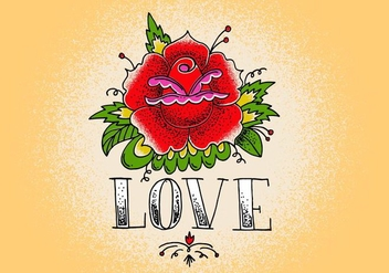 Love Tattoo Rose - Free vector #408325