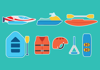 Water Sports Vector Icons - бесплатный vector #408415