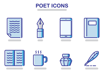 Poet Icons - Free vector #408445