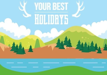 Free Holiday Vector Landscape - Kostenloses vector #408645