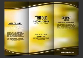 Free Vector Tri Fold Brochure - Free vector #408755