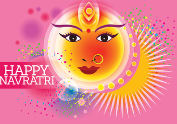 Vector for Shubh Navratri or Durga Puja with Pastel Color Background - Free vector #408845