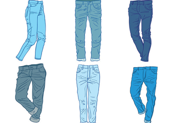 Free Blue Jeans Icons Vector - Free vector #409015