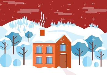 Free Vector Winter Landscape - Free vector #409025