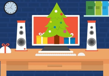 Free Christmas Vector Desk - Free vector #409055