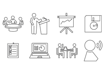 Free Presentation Icon Vector - Free vector #409225