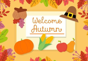 Free Autumn Vector Background - Free vector #409425