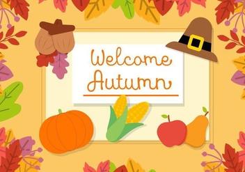 Free Autumn Vector Background - Kostenloses vector #409425