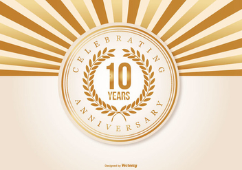 Beautiful 10 Year Anniversary Illustration - Free vector #409585