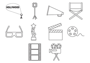 Free Movie Icon Vector - Kostenloses vector #410175