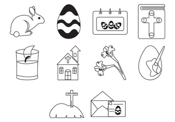 Free Easter Icon Set - Free vector #410205