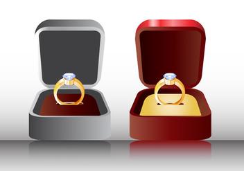 Ring in box vector - Kostenloses vector #410315