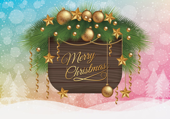 Merry Christmas Wallpaper - Free vector #410375