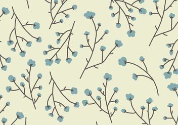 Cotton Flowers Pattern - vector gratuit #410395