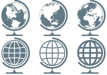 World Globes Vector Icon Collection - Free vector #410405